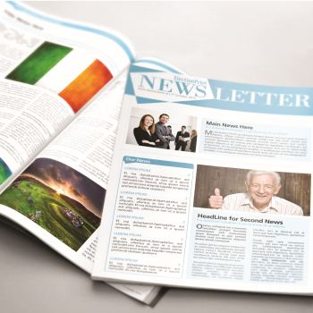 a4 newsletter 4 pages election print